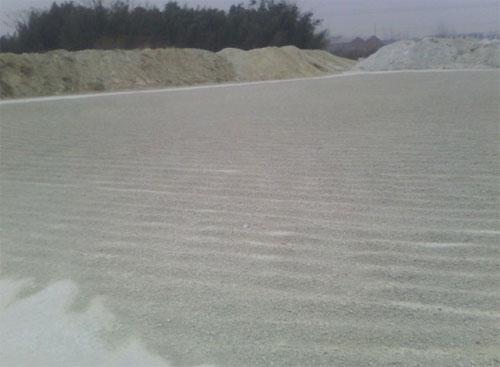 晾晒干的锂基膨润土